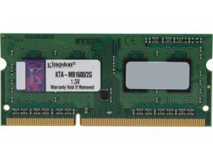 Kingston 2GB 204-Pin DDR3 SO-DIMM DDR3 1600 Memory for Apple Model KTA-MB1600/2G