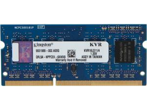 Kingston 4GB 204-Pin DDR3 SO-DIMM DDR3L 1600 (PC3L 12800) Laptop Memory Model KVR16LS11/4