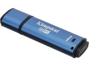 Kingston DataTraveler Vault Privacy 3.0 16GB Anti-Virus USB 3.0 Flash Drive 256bit AES Encryption Model DTVP30AV/16GB