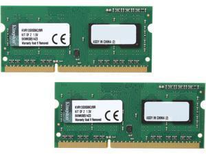 Kingston 8GB (2 x 4GB) 204-Pin DDR3 SO-DIMM DDR3 1333 (PC3 10600) Laptop Memory Model KVR13S9S8K2/8R