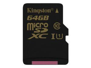 Kingston 64GB microSDXC Flash Card Model SDCA10/64GBSP