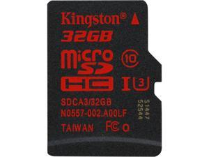 Kingston 32GB microSDHC 90R/80W Flash Card Single Pack w/o Adapter Model SDCA3/32GBSP