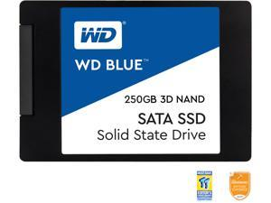"WD Blue 3D NAND 250GB PC SSD - SATA III 6Gb/s 2.5""/7mm Solid State Drive - WDS250G2B0A"