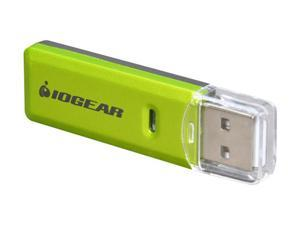 IOGEAR GFR204SD 10-in-1 USB 2.0 SD/ MicroSD/ MMC Card Reader/ Writer (Green/ Gray)