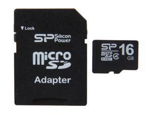 Silicon Power 16GB microSDHC Flash Card Model SP016GBSTH004V10-SP