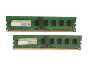 Silicon Power 8GB (2 x 4GB) 240-Pin DDR3 SDRAM DDR3 1333 (PC3 10600) Desktop Memory Model SP008GBLTU133V22