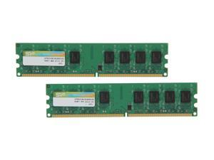 Silicon Power 4GB (2 x 2GB) 240-Pin DDR2 SDRAM DDR2 800 (PC2 6400) Desktop Memory Model SP004GBLRU800S22