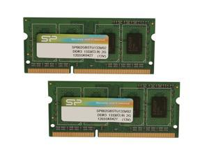 Silicon Power 4GB (2 x 2GB) 204-Pin DDR3 SO-DIMM DDR3 1333 (PC3 10600) Laptop Memory Model SP004GBSTU133V22