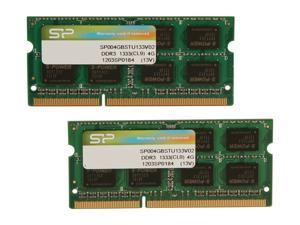 Silicon Power 8GB (2 x 4GB) 204-Pin DDR3 SO-DIMM DDR3 1333 (PC3 10600) Laptop Memory