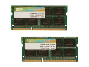Silicon Power 16GB (2 x 8G) 204-Pin DDR3 SO-DIMM DDR3 1333 (PC3 10600) Laptop Memory