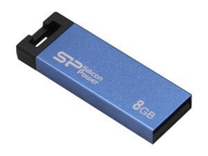 Silicon Power Touch 835 8GB Waterproof USB 2.0 Flash Drive (Blue) Model SP008GBUF2835V1B