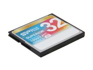 Silicon Power Superior 32GB Compact Flash (CF) Flash Card Model SP032GBCFC1K0V10