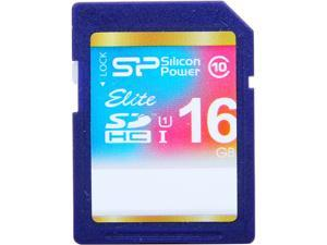Silicon Power Elite 16GB SDHC UHS-I Card Class 10 Full-HD Video Recording Performance 40MB/s