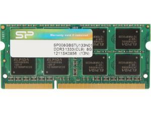 Silicon Power 8GB 204-Pin DDR3 SO-DIMM DDR3 1333 (PC3 10600) Laptop Memory Model SP008GBSTU133N01
