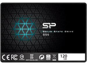 "Silicon Power Slim S55 2.5"" 120GB SATA III TLC Internal Solid State Drive (SSD) SP120GBSS3S55S25AC"