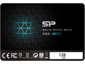 "Silicon Power 2.5"" 128GB SATA III TLC 3D NAND Internal Solid State Drive (SSD) SU128GBSS3A55S25AE"