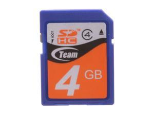 Team 4GB Secure Digital High-Capacity (SDHC) Flash Card Model TG004G0SD24X