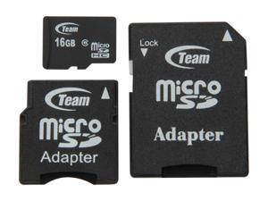Team 16GB microSDHC Flash Card (with 2 Adapters)