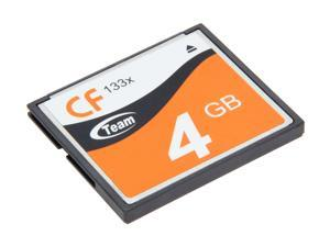 Team 4GB Compact Flash (CF) Flash Card Model TG004G2NCFFX