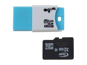 Team 32GB microSDHC Flash Card w/ USB2.0 Micro SD Card Reader TR11A1 Model TG032G0MC24C