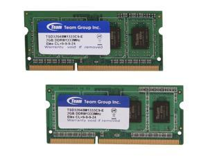 Team 4GB (2 x 2GB) 204-Pin DDR3 SO-DIMM DDR3 1333 Laptop Memory Model TSD34096M1333C9DC-E