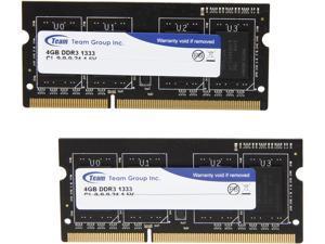 Team 8GB (2 x 4GB) 204-Pin DDR3 SO-DIMM DDR3 1333 Laptop Memory Model TSD38192M1333C9DC-E