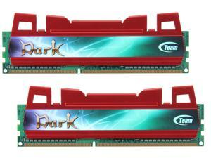 Team Dark Series 8GB (2 x 4GB) 240-Pin DDR3 SDRAM DDR3 1600 (PC3 12800) Desktop Memory (Red Heat Spreader)