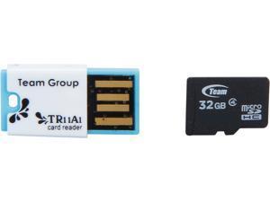 Team 32GB microSDHC Flash Card With Card Reader Model TUSDH32GCL432