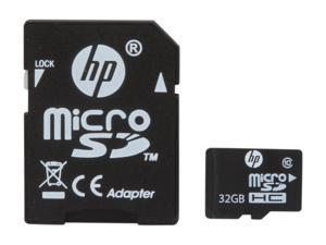 HP 32GB microSDHC Flash Card
