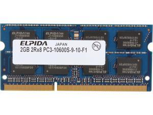 Elpida 2GB 204-Pin DDR3 SO-DIMM DDR3 1333 (PC3 10600) Laptop Memory Model EBJ21UE8BDS0-DJ-F