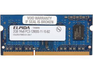 Elpida 2GB 204-Pin DDR3 SO-DIMM DDR3 1600 (PC3 12800) Laptop Memory Model EBJ20UF8BDU0-GN-F
