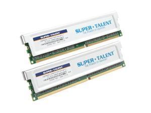 SUPER TALENT 2GB (2 x 1GB) 184-Pin Dual Channel Kit Desktop Memory