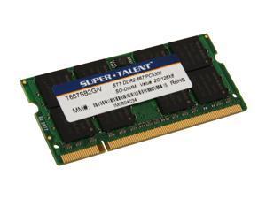SUPER TALENT 2GB 200-Pin DDR2 SO-DIMM DDR2 667 (PC2 5300) Laptop Memory Model T667SB2G/V