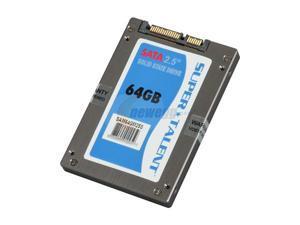 """SUPER TALENT MasterDrive SX 2.5"""" 64GB SATA II MLC Internal Solid State Drive (SSD) SAM64GM25S"""