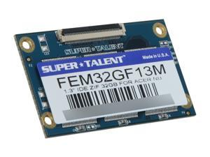 "SUPER TALENT FEM32GF13M 1.3"" 32GB IDE ZIF MLC Internal Solid State Drive (SSD)"