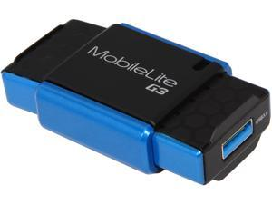 Kingston FCR-MLG3 USB 3.0 Support SD/ SDHC/ SDXC, microSD/ SDHC/ SDXC and MSPD Card Reader Black/ Blue
