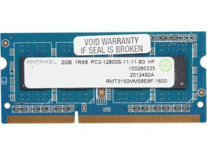 Ramaxel 2GB 204-Pin DDR3 SO-DIMM DDR3 1600 (PC3 12800) Notebook Memory Model RMT3150MM58E8F-1600