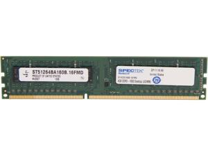 SPECTEK by Micron Technology 4GB 240-Pin DDR3 SDRAM DDR3 1600 (PC3 12800) Desktop Memory Model ST4G3D160B