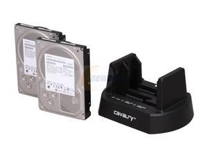 Cavalry 2-Bay USB 2.0 Hard Drive Dock & Two (2) 7200 RPM 32MB 2TB SATA II Hard Drives