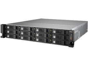 QNAP TVS-1271U-RP-i3-8G-US Diskless System 12 -bay high performance unified storage
