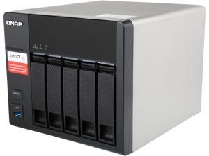 QNAP TS-563-2G-US Diskless System 5-Bay AMD 64bit x86-based NAS, Quad Core 2.0GHz, 2GB RAM, 2 x 1GbE, 10G-ready
