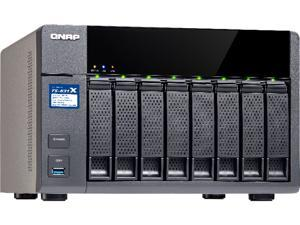QNAP TS-831X High-performance 8-bay NAS with Built-in 2 x 10GbE (SFP+) Network, Hardware Encryption, Quad Core 1.4GHz, 8GB RAM, 2 x 1GbE