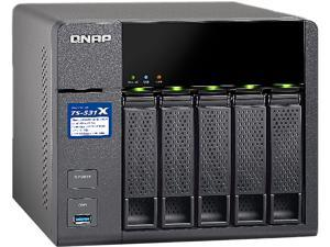 QNAP TS-531X ARM-based NAS with Hardware Encryption, Quad Core 1.4 GHz, 2GB RAM, 2 x 10GbE (SFP+), 2 x 1GbE