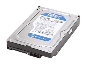 "Western Digital WD Blue WD2500AAKS 250GB 7200 RPM 16MB Cache SATA 3.0Gb/s 3.5"" Internal Hard Drive"