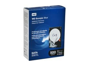 "WD Scorpio Blue WD5000BEVTRTL 500GB 5400 RPM 8MB Cache SATA 3.0Gb/s 2.5"" Internal Notebook Hard Drive"