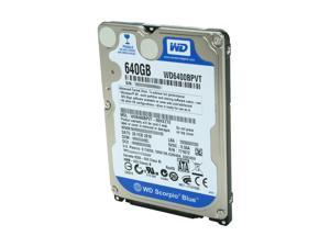 "Western Digital Scorpio Blue WD6400BPVT 640GB 5400 RPM 8MB Cache SATA 3.0Gb/s 2.5"" Internal Notebook Hard Drive Bare Drive"