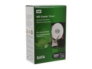 "WD WD Green WDBAAY5000ENC-NRSN 500GB SATA 3.0Gb/s 3.5"" Internal Hard Drive Retail Kit"