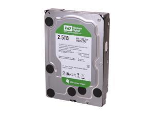 "Western Digital WD Green WD25EZRX 2.5TB 64MB Cache SATA 6.0Gb/s 3.5"" Internal Hard Drive Bare Drive - OEM"