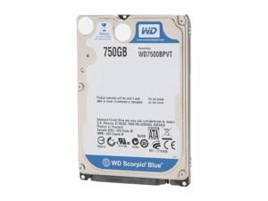 "WD Scorpio Blue WD7500BPVT 750GB 5400 RPM 8MB Cache SATA 3.0Gb/s 2.5"" Internal Notebook Hard Drive"