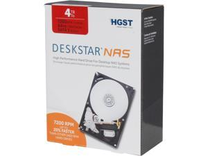 "HGST Deskstar NAS 3.5"" 4TB 7200 RPM 64MB Cache SATA 6.0Gb/s High-Performance Hard Drive for Desktop NAS Systems Retail Packaging"